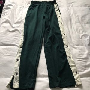Pants - Green and white track pants